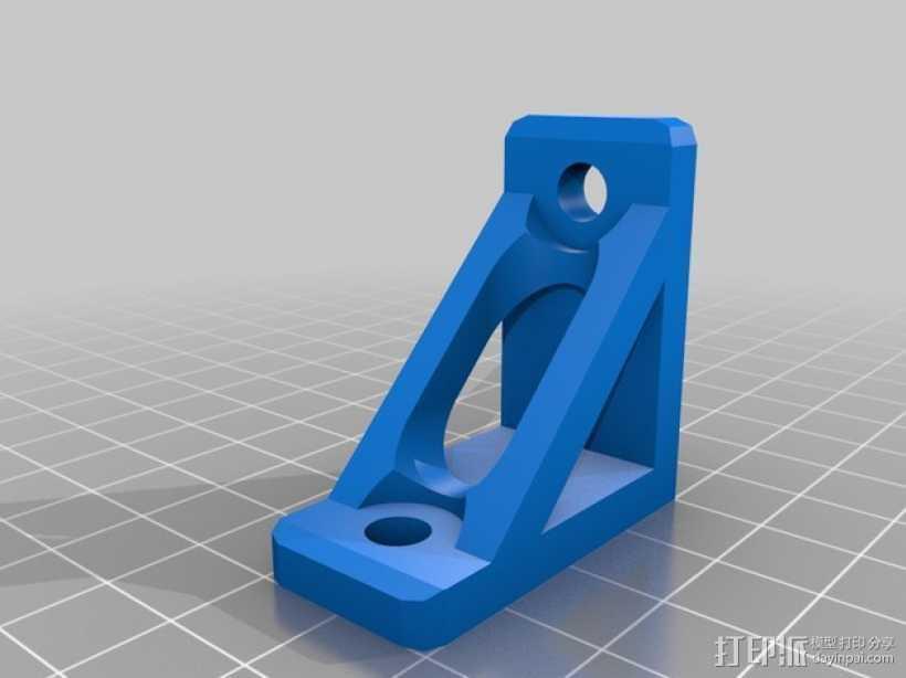 90度支架 3D打印模型渲染图