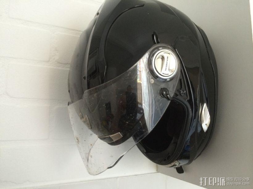 摩托头盔墙上固定架 3D打印模型渲染图