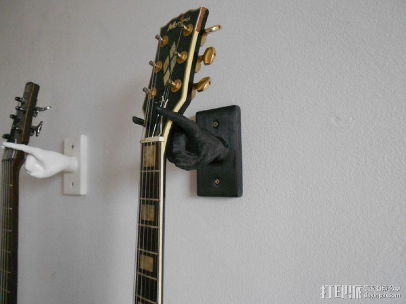 手型吉他挂钩 3D打印模型渲染图