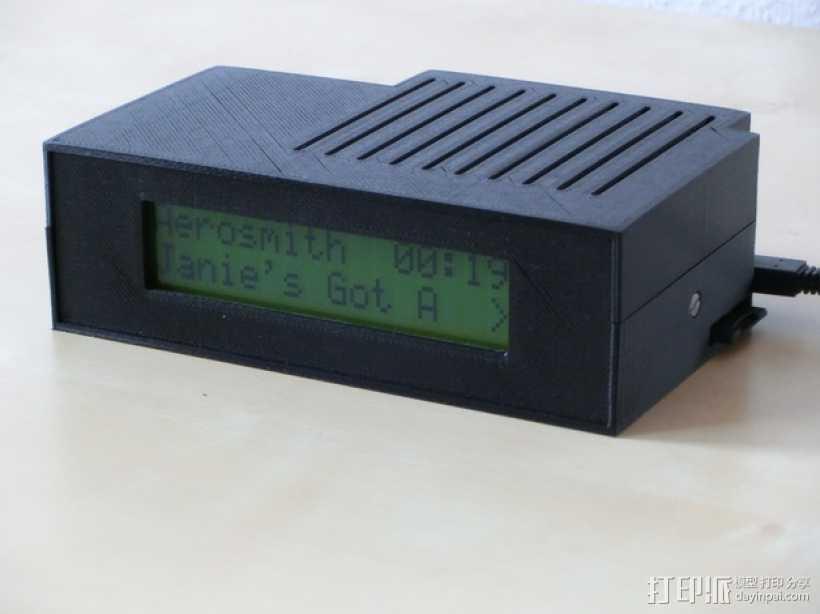 树莓派LCD 音乐播放器 3D打印模型渲染图