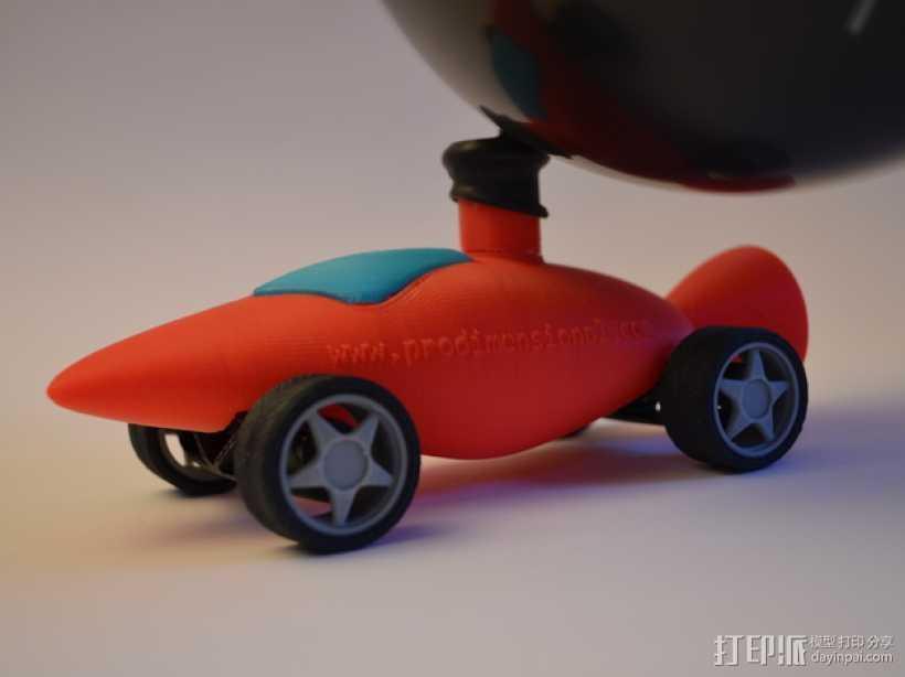 文丘里驱动的气球小车 3D打印模型渲染图