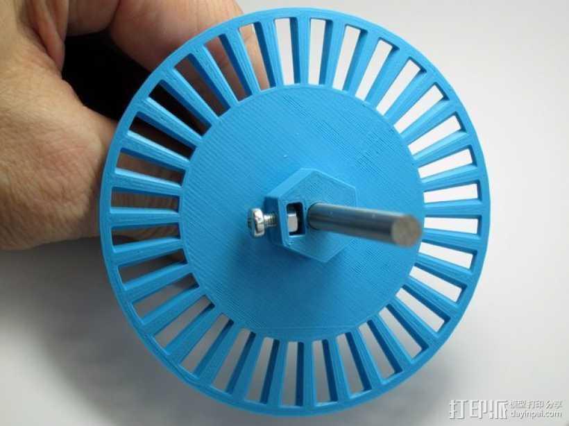 开槽小轮 3D打印模型渲染图
