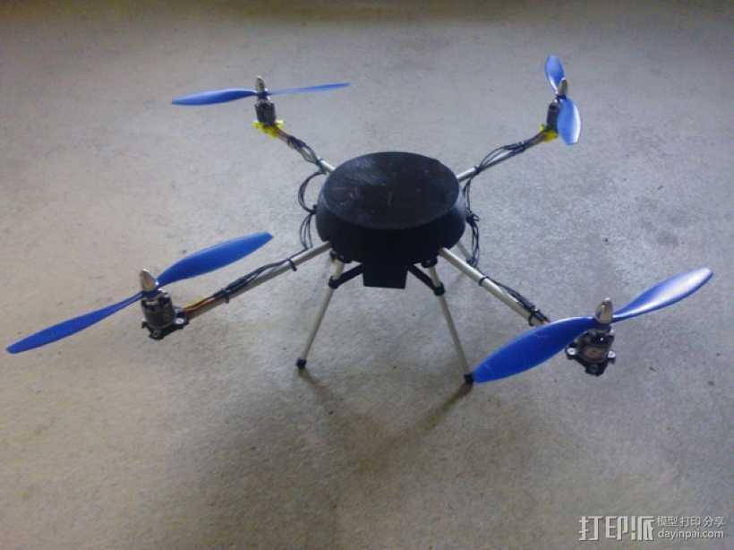超低成本DIY四轴飞行器 3D打印模型渲染图