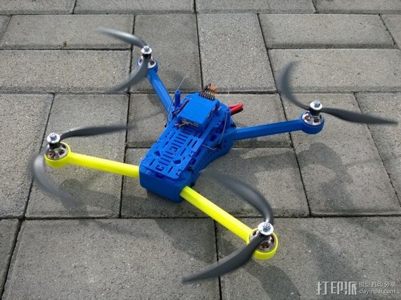 T4 四轴飞行器 Mini 315(7到8寸) 3D打印模型渲染图