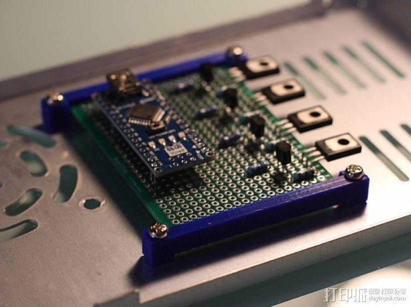 PCB 固定槽 3D打印模型渲染图
