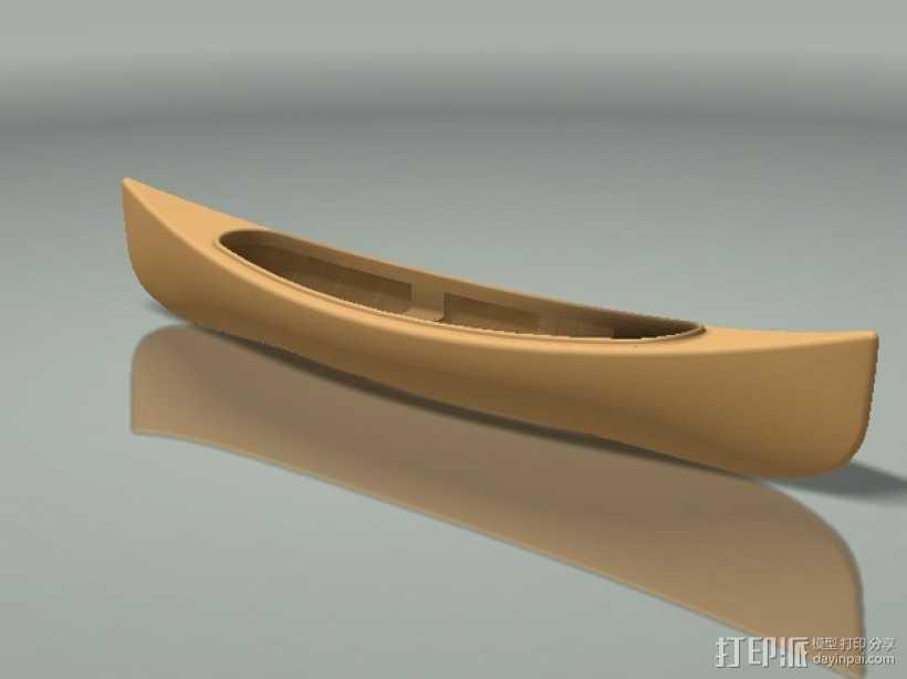 加拿大独木舟 3D打印模型渲染图