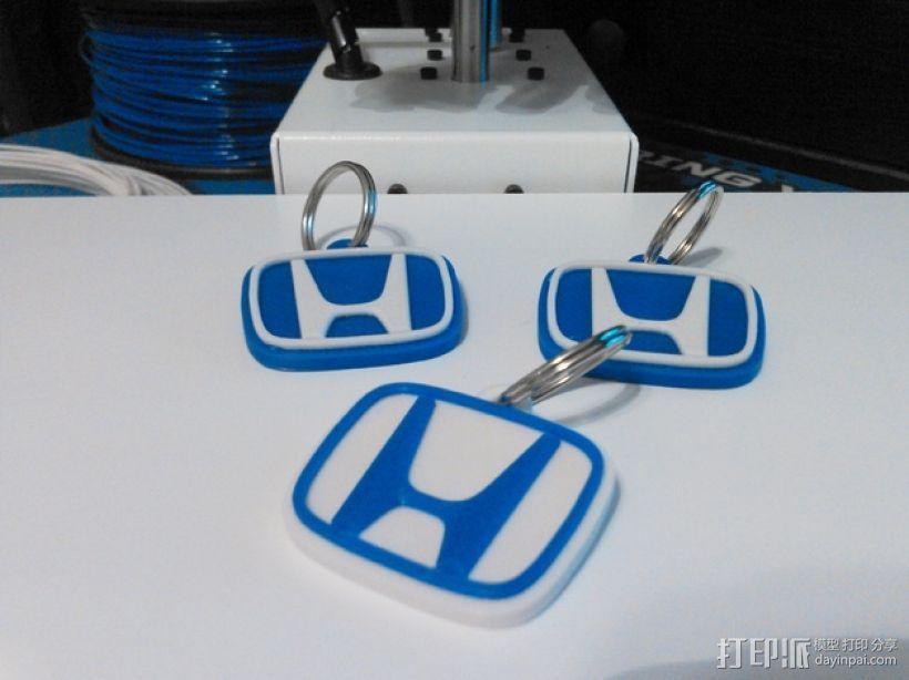 本田汽车钥匙扣 3D打印模型渲染图