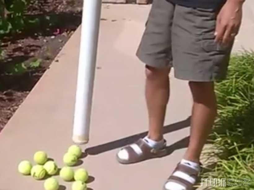 网球回收筒 3D打印模型渲染图
