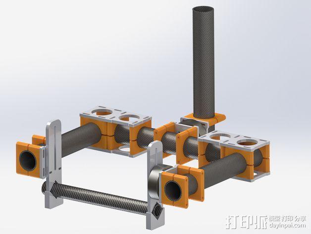 通用摄像头平衡夹套 3D打印模型渲染图