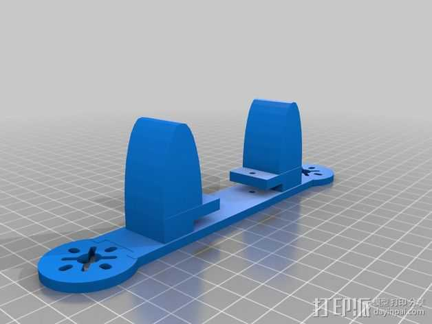 195mm简易迷你飞行器 3D打印模型渲染图