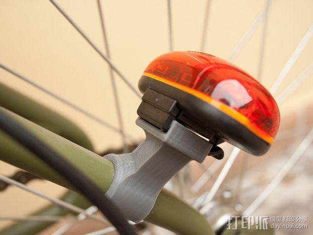 Graziella自行车尾车灯固定夹 3D打印模型渲染图