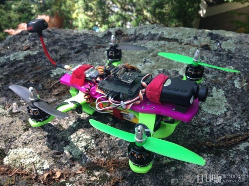 迷你 LiMbO H 四轴飞行器 3D打印模型渲染图