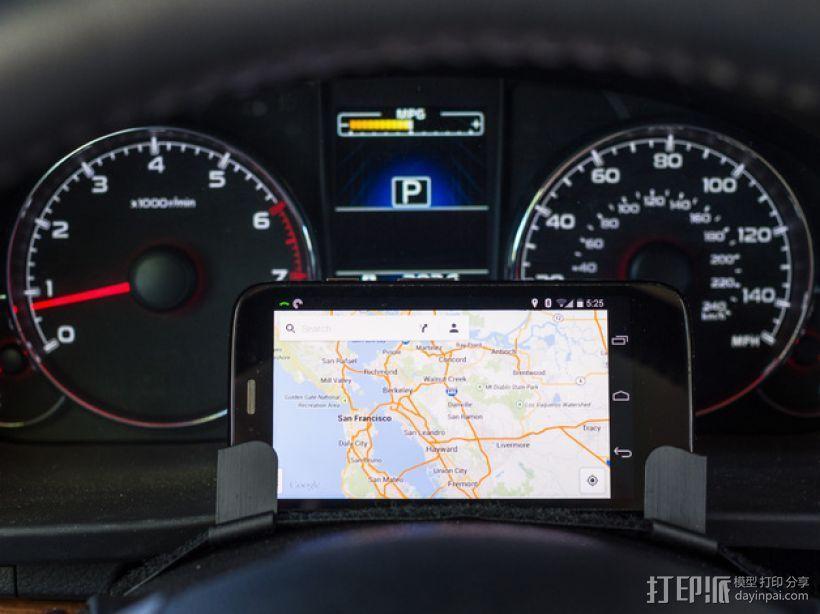 驾驶杆手机固定夹 3D打印模型渲染图