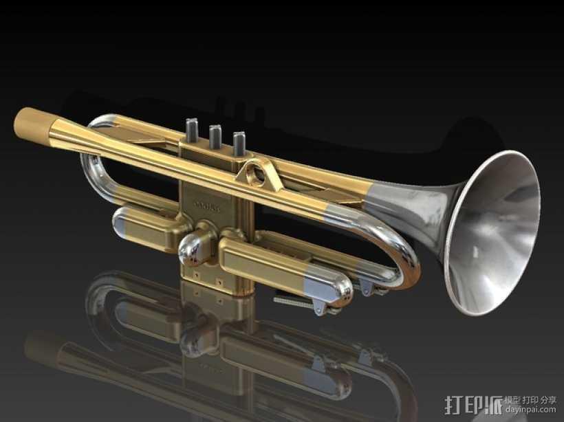 全尺寸喇叭 3D打印模型渲染图
