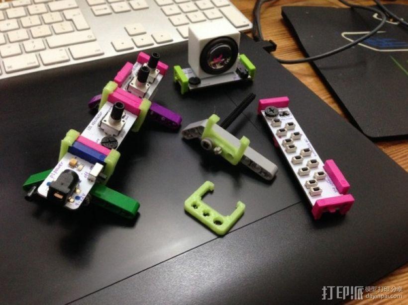 乐高littlebits适配器 3D打印模型渲染图