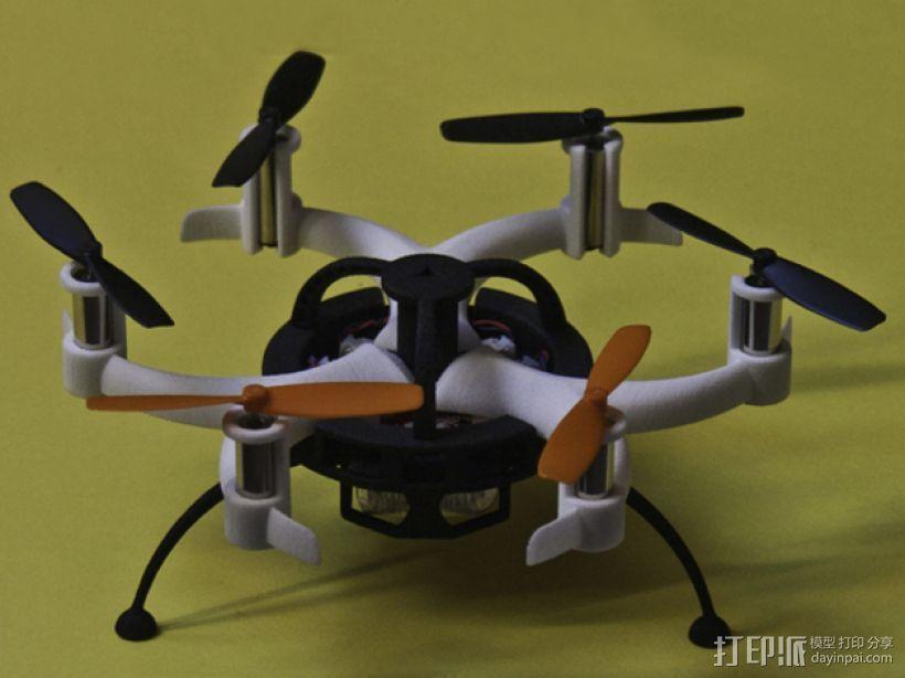 迷你6轴飞行器主架 3D打印模型渲染图