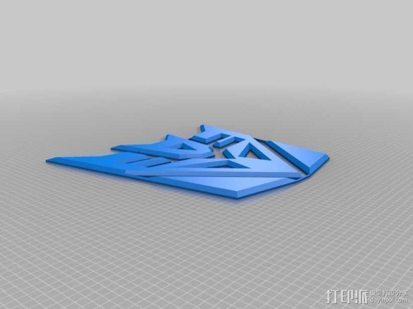 霸天虎徽章 3D打印模型渲染图