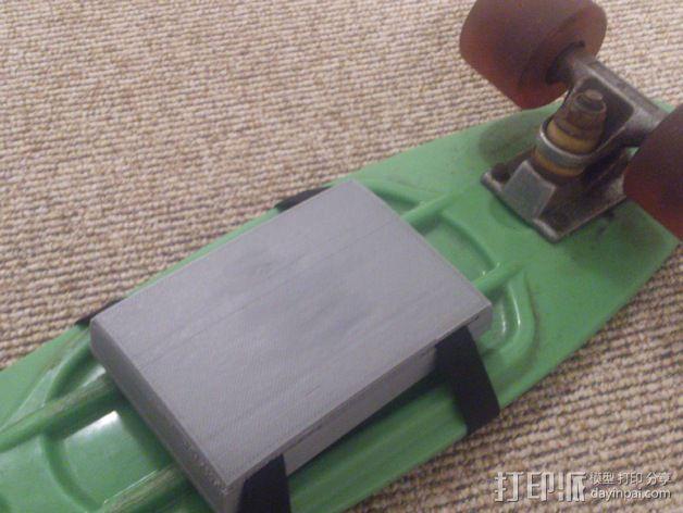滑板背部存储盒 3D打印模型渲染图