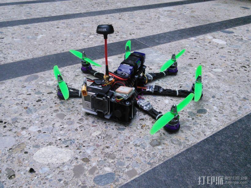 Pollux v2四轴飞行器的10度前倾马达 3D打印模型渲染图