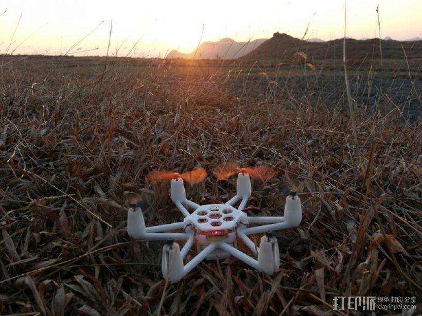 Flexbot六轴飞行器 3D打印模型渲染图