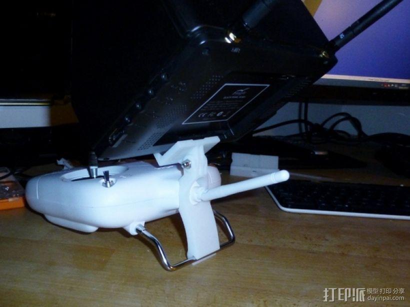 DJI  Phantom 控制器固定槽 3D打印模型渲染图