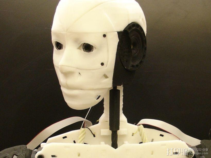 """机器人""""InMoov""""的脑袋 3D打印模型渲染图"""