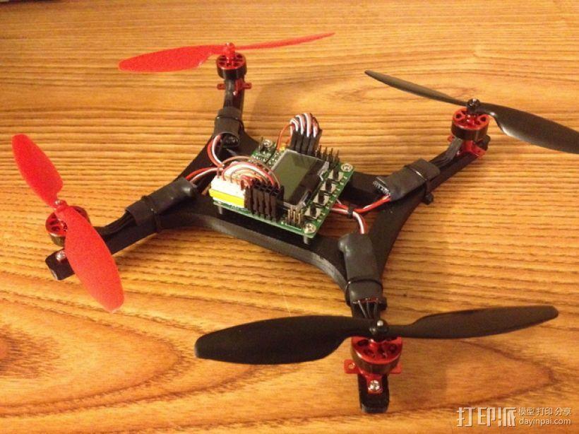 微型H四轴飞行器 3D打印模型渲染图