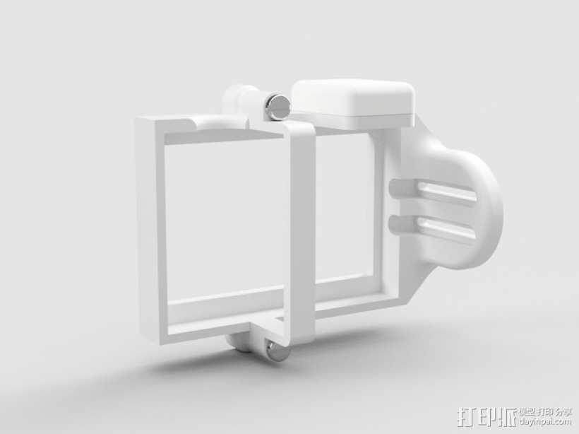 GoPro相机的保护壳 3D打印模型渲染图