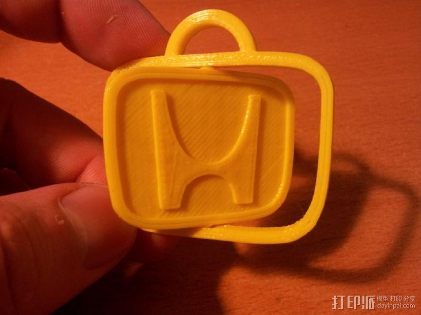 本田旋转钥匙链 3D打印模型渲染图