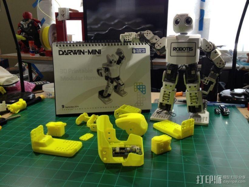 迷你DARWIN机器人 3D打印模型渲染图