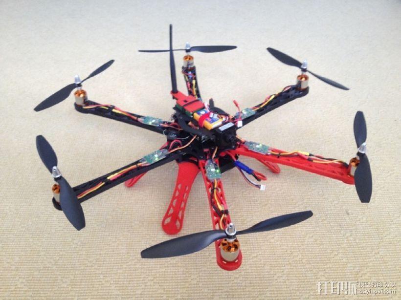 3D 打印四轴飞行器 3D打印模型渲染图