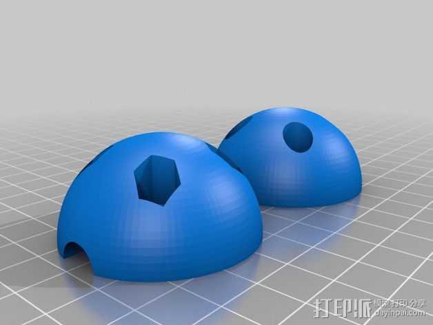 电缆球 3D打印模型渲染图