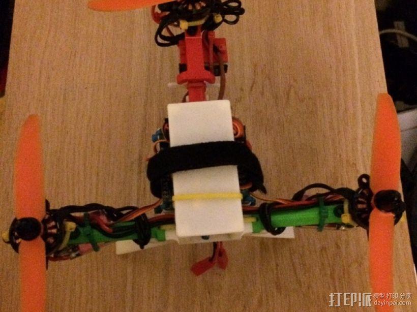 迷你T-Copter四轴飞行器 3D打印模型渲染图
