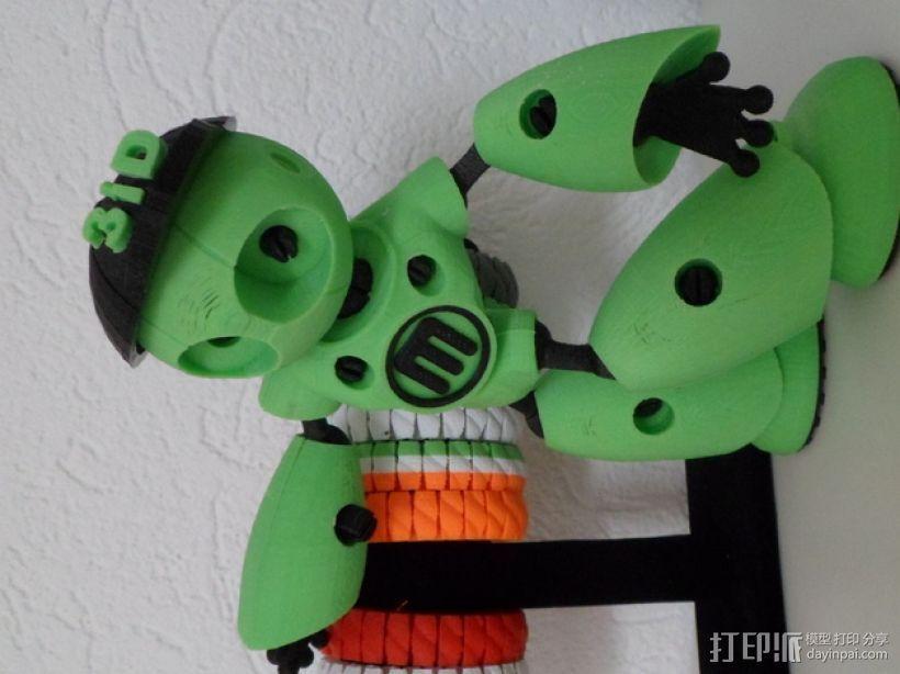 Robot Mark II的篮球帽 3D打印模型渲染图