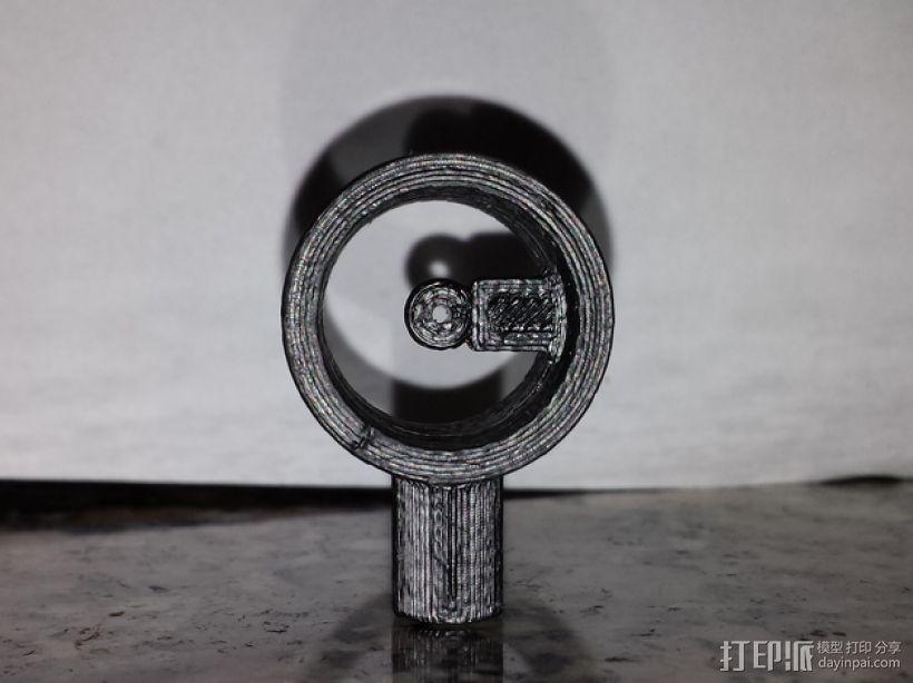 反曲弓瞄准器 3D打印模型渲染图