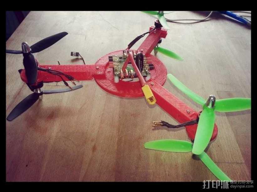 迷你无人机 3D打印模型渲染图