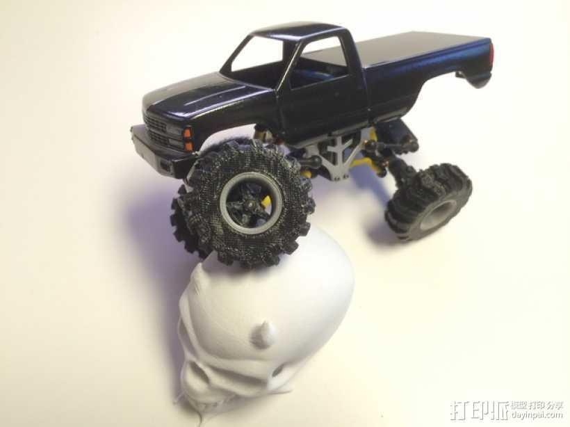 1:24攀岩车轮胎 3D打印模型渲染图