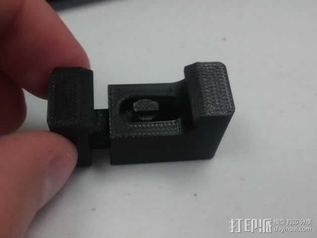 皮卡汀尼固定槽 3D打印模型渲染图