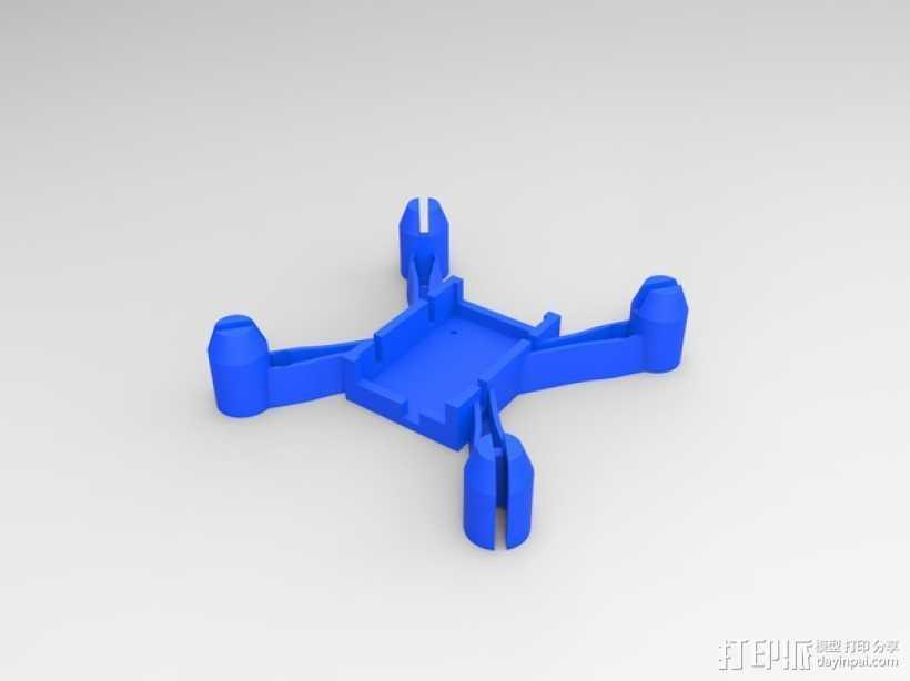 更小的hubsan x4机身 3D打印模型渲染图