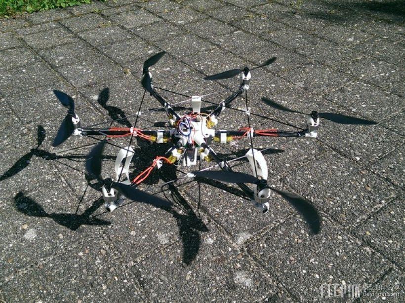 迷你六轴飞行器 3D打印模型渲染图