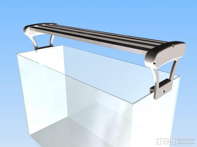 水族箱的LED灯 3D打印模型渲染图