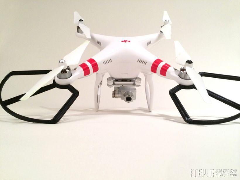 DJI Phantom 2 螺旋保护架 3D打印模型渲染图