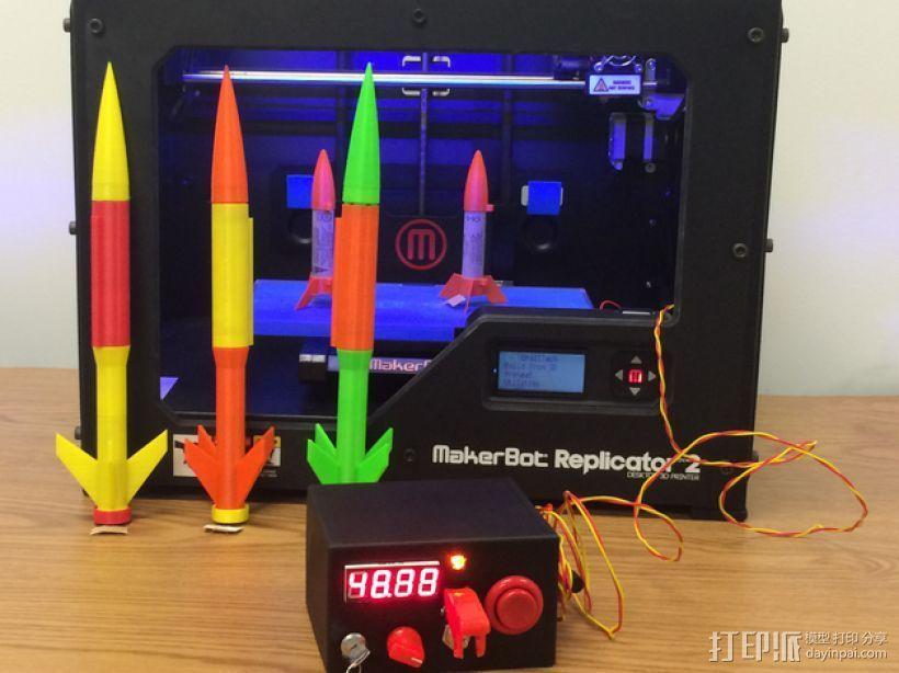 火箭发射器 3D打印模型渲染图