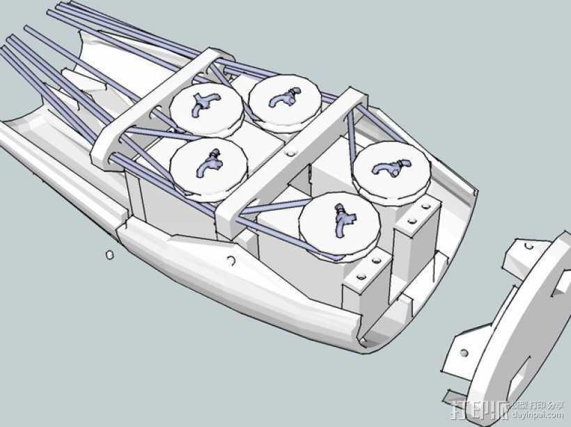 InMoov简易伺服床 3D打印模型渲染图