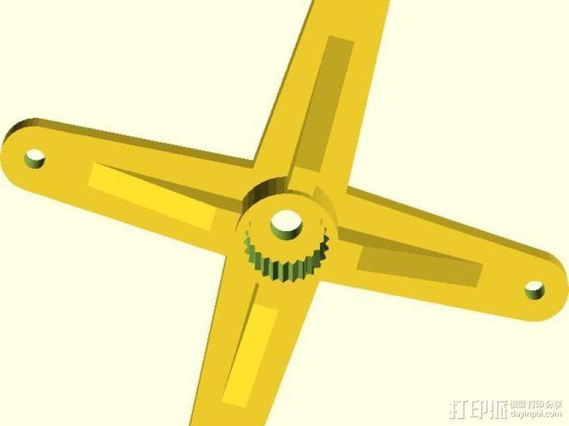参数型伺服臂 3D打印模型渲染图