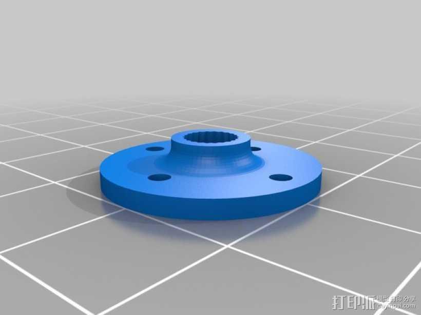 模块化防昆虫机器人伺服器 支架 3D打印模型渲染图