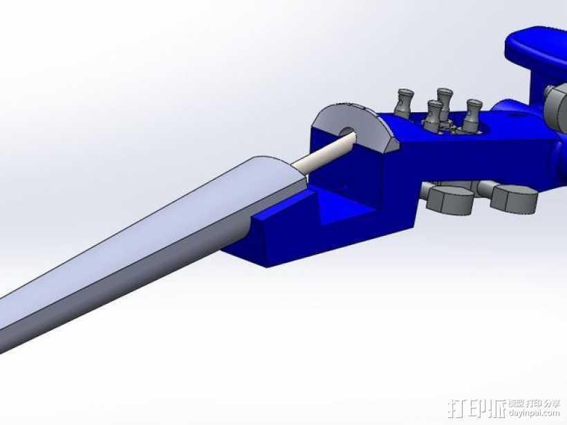 1:16电子小提琴  3D打印模型渲染图