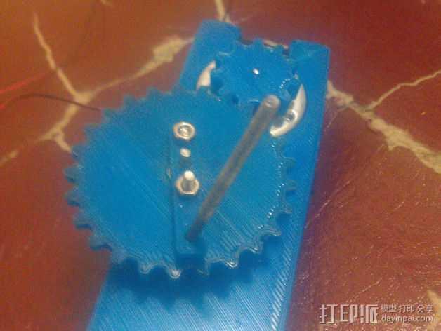 手动发电机 3D打印模型渲染图