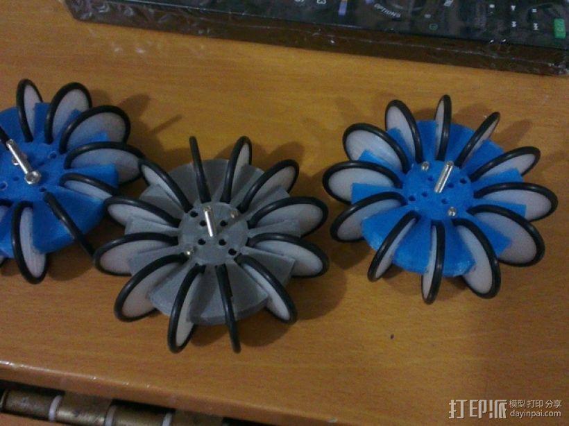 通用全向轮 3D打印模型渲染图
