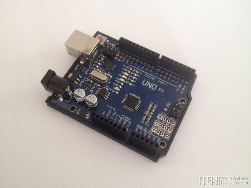 Arduino Uno保护支架 3D打印模型渲染图
